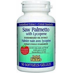 Saw palmetto com licopeno 160 mg 90 softgels Natural factors