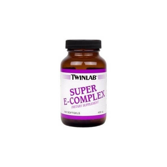 Vitamina E Super e-complex 400 Ui 100 Softgels Twinlab