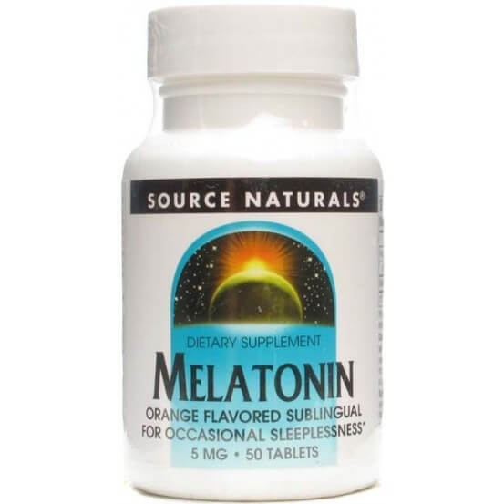 Melatonina 5mg 50 Comprimidos Subligual Source Naturals 021078005797