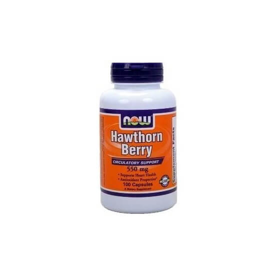 Hawthorn Berry 550mg 100 Cápsulas Now Foods 733739047151