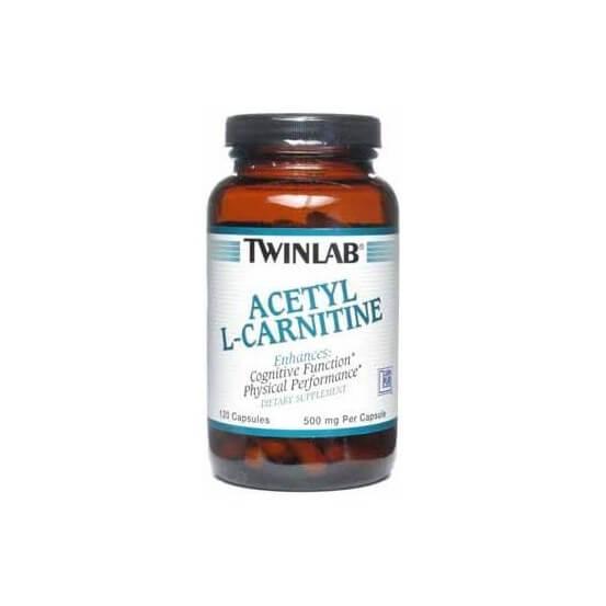 Acetil L-carnitina, 500mg ,120 Capsulas, Twinlab