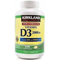 Vitamina D3 2000 UI 600 Softgels Kirkland Signature