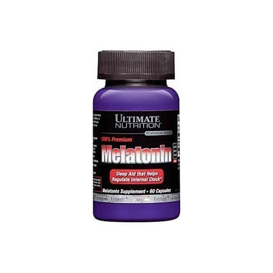Melatonina 3 mg premium 60 capsulas Ultimate nutrition 099071000392