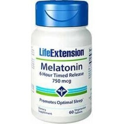 Melatonina 750mcg Timed Release 60 Cápsulas Life Extension