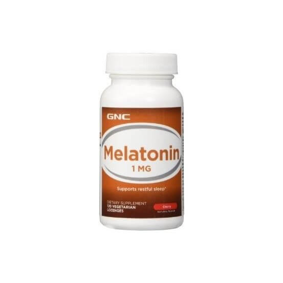 Melatonina, 1mg, 120 Losangos, Cereja, GNC