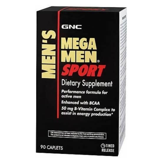 Mega Men Multivitaminico 90 Comprimidos GNC, 048107154929