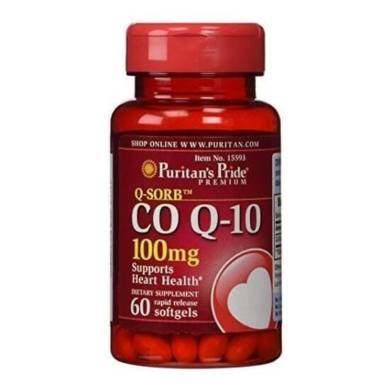 Coenzima Q10 100mg 60 Softgels Puritan's Pride 025077155934