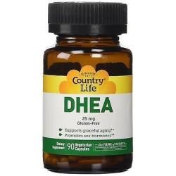 DHEA 25mg 90 Cápsulas Country Life 015794016700