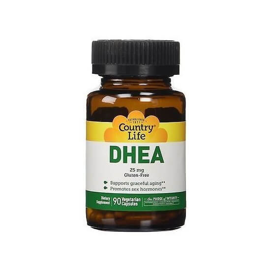 DHEA 25mg 90 Cápsulas Country Life 015794016700