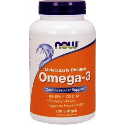 Omega 3 Cardiovascular Support 200 Softgels Now Foods