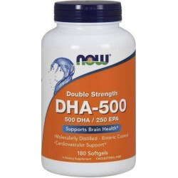 DHA-500, 180 Softgels, Now Foods