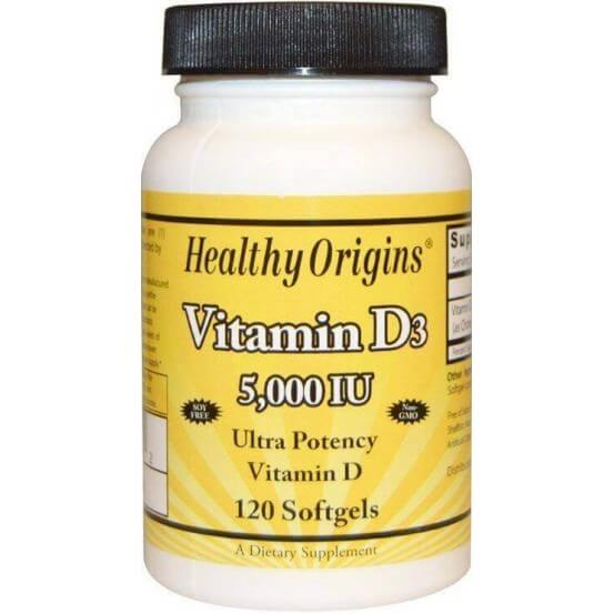 Vitamina D3 5000 ui 120 Softgels Healthy Origins