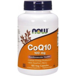 Coenzima Q10 100mg, 180 Cápsulas Vegetais, Now Foods