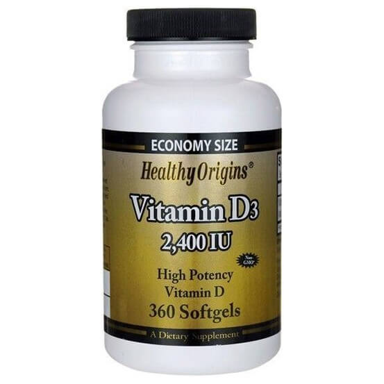 Vitamina D3 2.400 ui 360 Softgels Healthy Origins