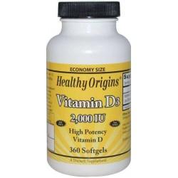 Vitamina D3 2.000 ui 120 Softgels Healthy Origins 603573153786