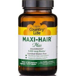 Maxi-Hair Plus, 120 Cápsulas, Country Life