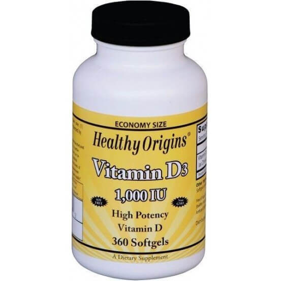 Vitamina D3 1.000 ui 360 Softgels Healthy Origins