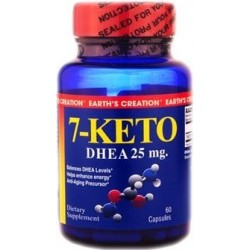 7-Keto DHEA 25mg 60 Cápsulas Earth's Creation