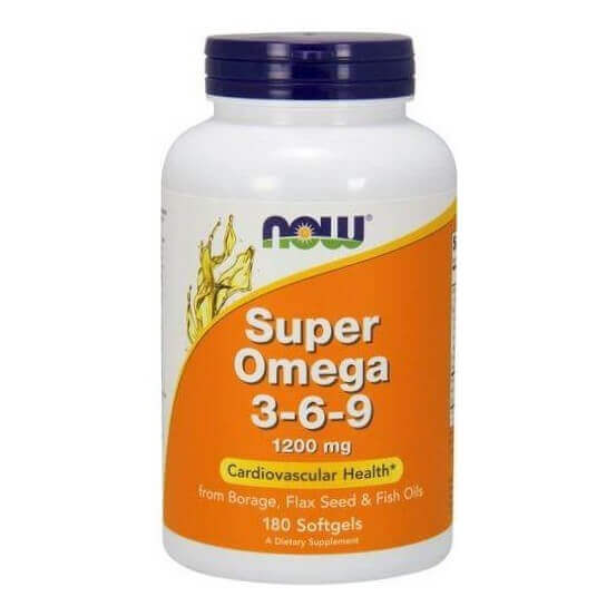 Super Ômega 3-6-9 1200mg 180 Softgels Now Foods