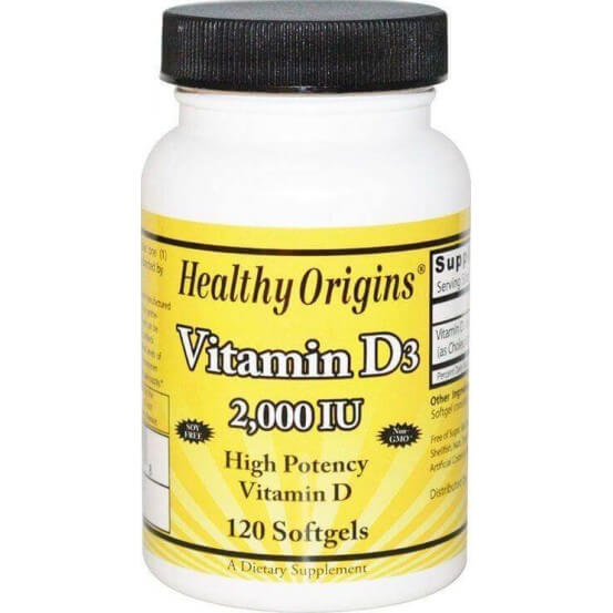 Vitamina D3 2.000 ui 120 Softgels Healthy Origins