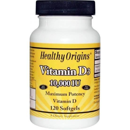 Vitamina D3 10.000 ui 120 Softgels Healthy Origins