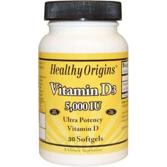 Vitamina D3 5.000 ui 30 Softgels Healthy Origins