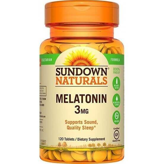 Melatonina, 3mg, 120 Comprimidos, Sundown