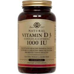 Vitamina D3 1000ui 250 Softgels Solgar