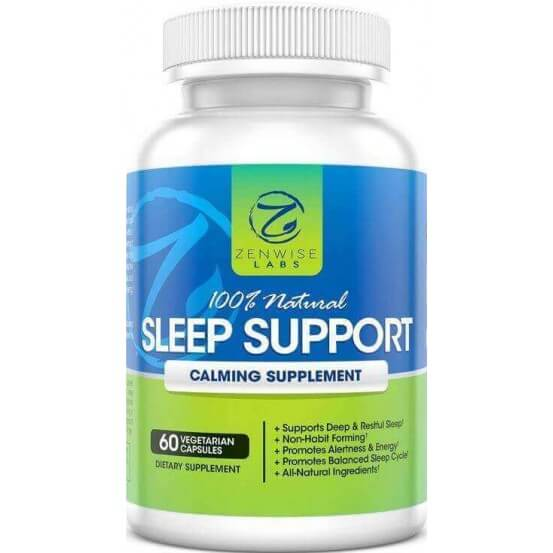 Natural Sleep Support Calming 60 Cápsulas Zenwise Labs