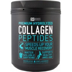 Peptídeos de Colágeno Sem Sabor 454 g Sports Research