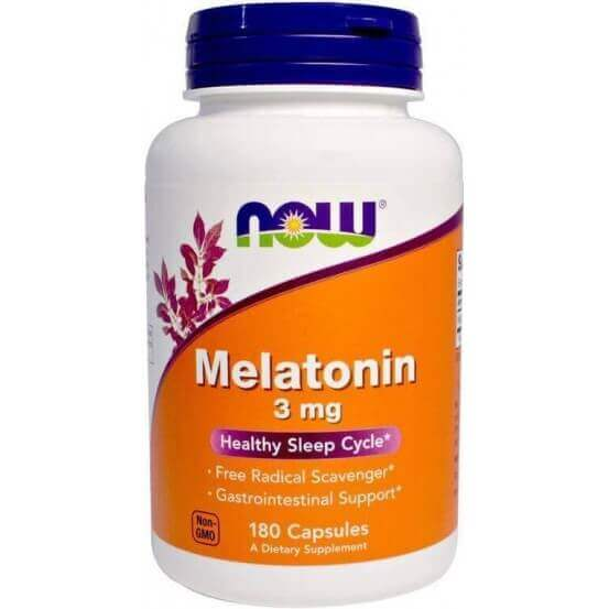 Melatonina 3mg,180 Cápsulas, Now Foods, 733739032577
