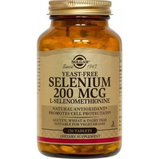 Selênio, Sem Leveduras, 200mcg, 250 Comprimidos, Solgar