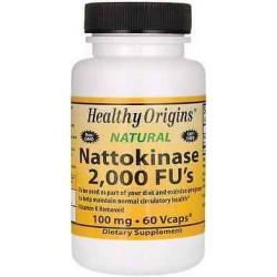 Nattokinase 2.000 FU's 100mg 60 Cápsulas Healthy Origins