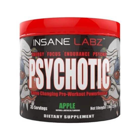 Pré-Treino Psychotic, Maçã, 35 Doses, Insane Labz
