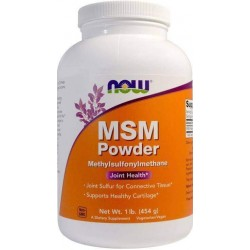 MSM em pó (Metilsulfonilmetano) , 454g, Now Foods