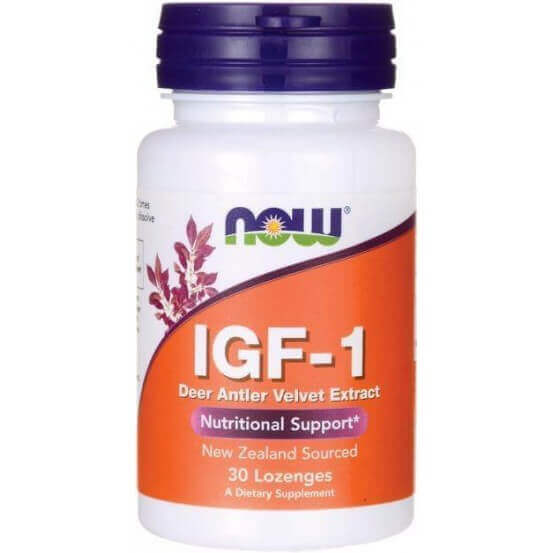 IGF-1, 30 Lozenges, Now Foods, 733739032027