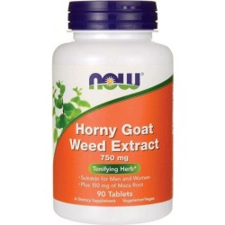 Horny Goat Weed Extrato, 750 mg, 90 Comprimidos Now Foods