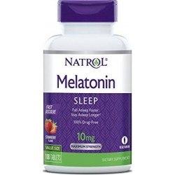 Melatonina 10mg, Fast Dissolve, 100 Comprimidos, Natrol