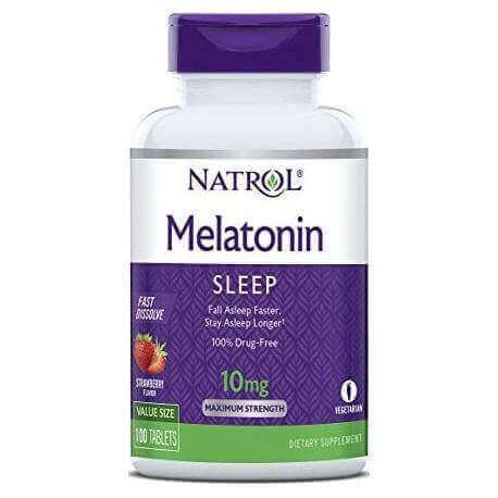 Melatonina 10mg Fast Dissolve 100 Comprimidos Natrol