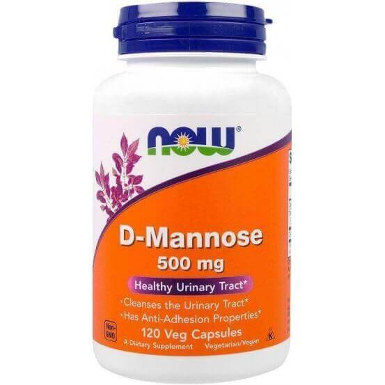 D-Manose, 500 mg, 120 Cápsulas Vegetarianas, Now Foods