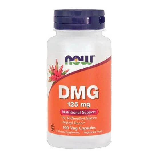 DMG (Dimetilglicina), 125mg, 100 Cápsulas Vegetarianas, Now Foods