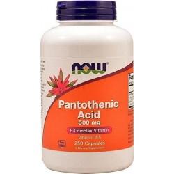 Ácido Pantotênico, 500mg, 250 Cápsulas, Now Foods