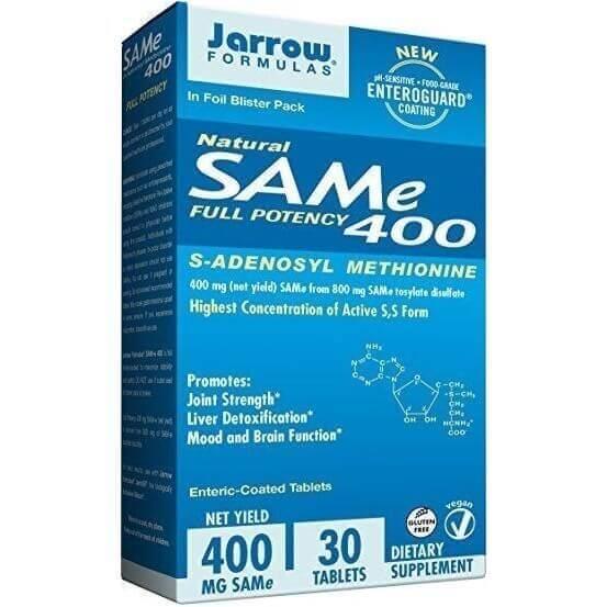 SAM-e (S-Adenosil-L-Metionina), 400mg, 30 Comprimidos Entéricos Revestidos, Jarrow Formulas