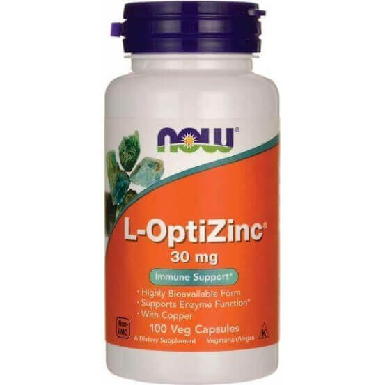 L-OptiZinc, 30mg, 100 Cápsulas Vegetarianas, Now Foods