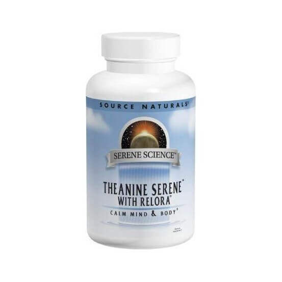 Serene Science, Theanine Serene com Relora, 60 Comprimidos, Source Naturals