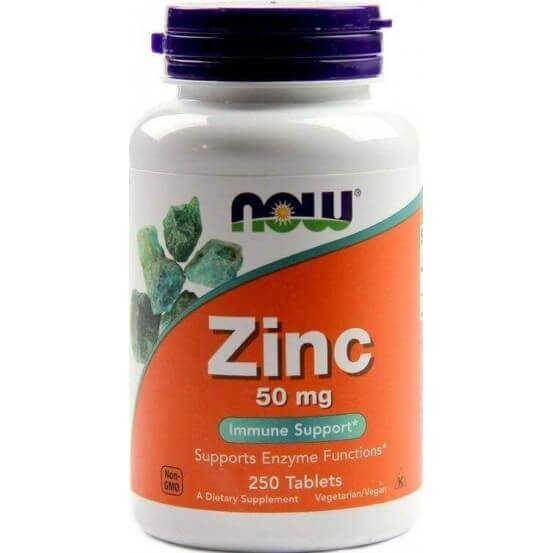 Zinco 50mg 250 Comprimidos Now Foods