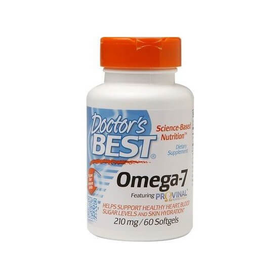 Ômega-7 (Provinal) 210mg, 60 Softgels, Doctor's Best