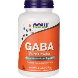 Gaba, (Pó) Pure Powder, 170g, Now Foods