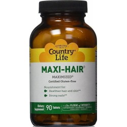 Maxi-Hair Time Release 90 Comprimidos Country Life