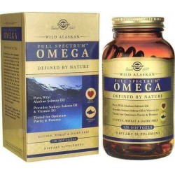 Ômega, Full Spectrum, Selvagem do Alasca,120 Softgels, Solgar
